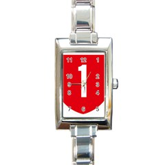 New Zealand State Highway 1 Rectangle Italian Charm Watch