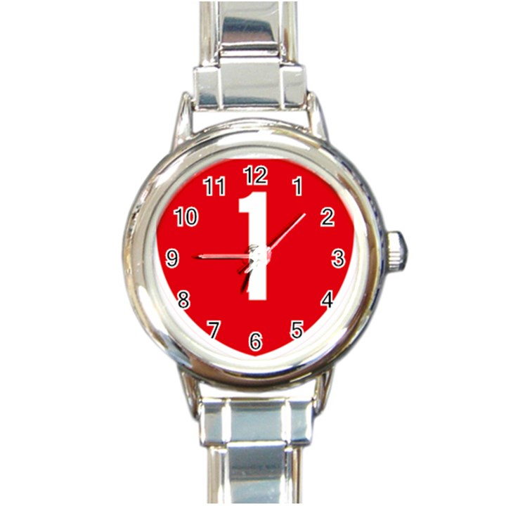 New Zealand State Highway 1 Round Italian Charm Watch