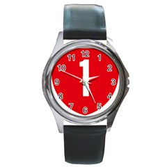 New Zealand State Highway 1 Round Metal Watch