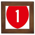 New Zealand State Highway 1 Framed Tiles Front