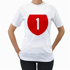 New Zealand State Highway 1 Women s T Shirt (white) (two Sided)