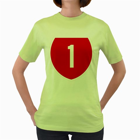 New Zealand State Highway 1 Women s Green T-Shirt