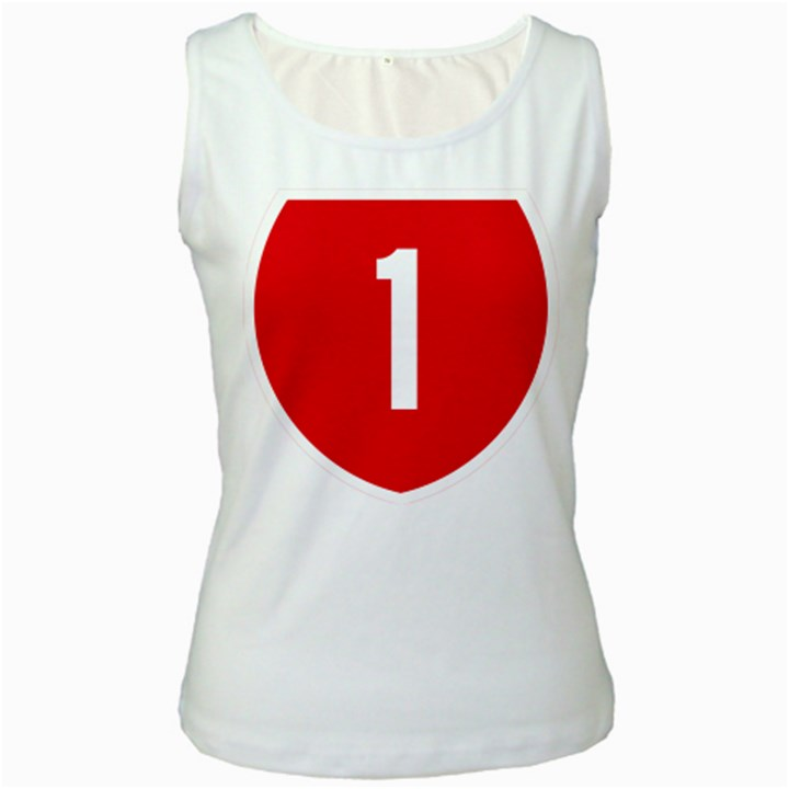 New Zealand State Highway 1 Women s White Tank Top