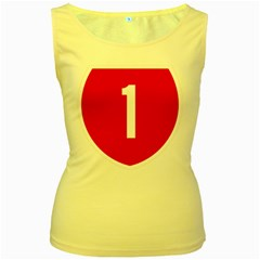 New Zealand State Highway 1 Women s Yellow Tank Top