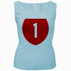 New Zealand State Highway 1 Women s Baby Blue Tank Top