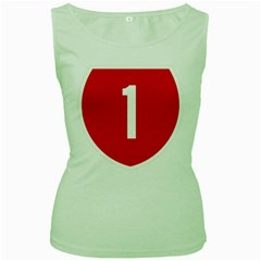 New Zealand State Highway 1 Women s Green Tank Top