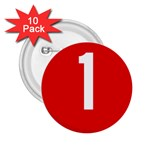 New Zealand State Highway 1 2.25  Buttons (10 pack)  Front