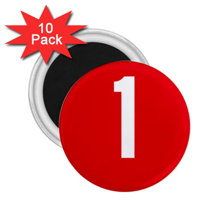 New Zealand State Highway 1 2.25  Magnets (10 pack)