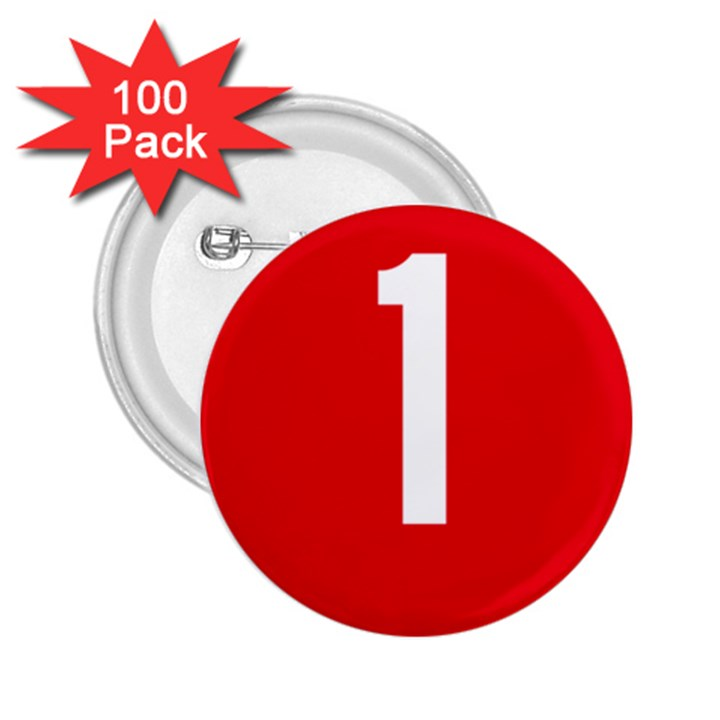 New Zealand State Highway 1 2.25  Buttons (100 pack)
