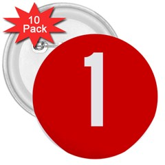 New Zealand State Highway 1 3  Buttons (10 pack)