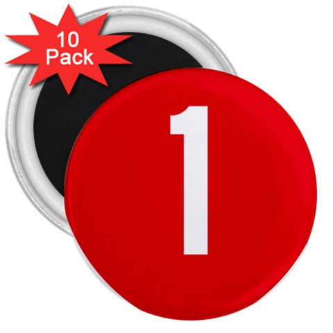 New Zealand State Highway 1 3  Magnets (10 pack)