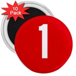 New Zealand State Highway 1 3  Magnets (10 pack)  Front