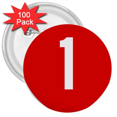 New Zealand State Highway 1 3  Buttons (100 pack)