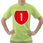 New Zealand State Highway 1 Green T-Shirt Front
