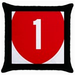 New Zealand State Highway 1 Throw Pillow Case (Black) Front