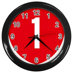 New Zealand State Highway 1 Wall Clocks (black)