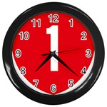 New Zealand State Highway 1 Wall Clocks (Black) Front