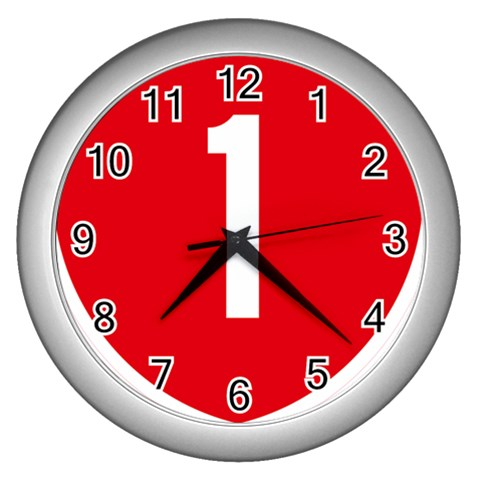 New Zealand State Highway 1 Wall Clocks (Silver)