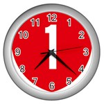 New Zealand State Highway 1 Wall Clocks (Silver)  Front
