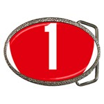 New Zealand State Highway 1 Belt Buckles Front