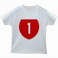 New Zealand State Highway 1 Kids White T Shirts