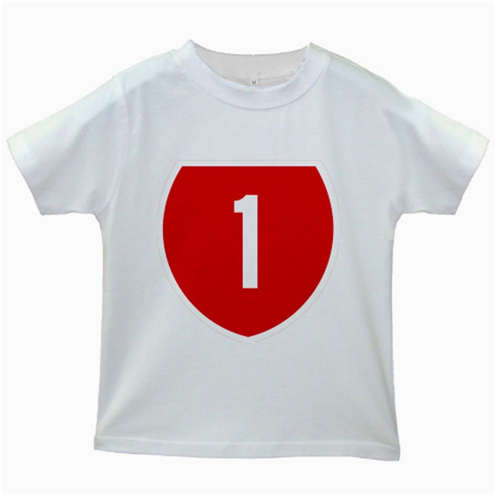 New Zealand State Highway 1 Kids White T-Shirts