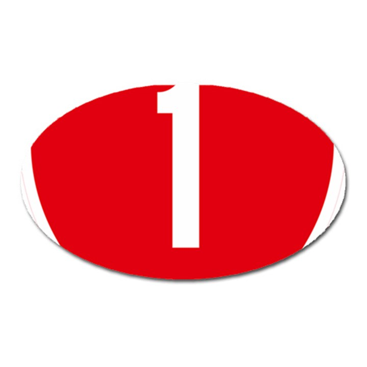 New Zealand State Highway 1 Oval Magnet