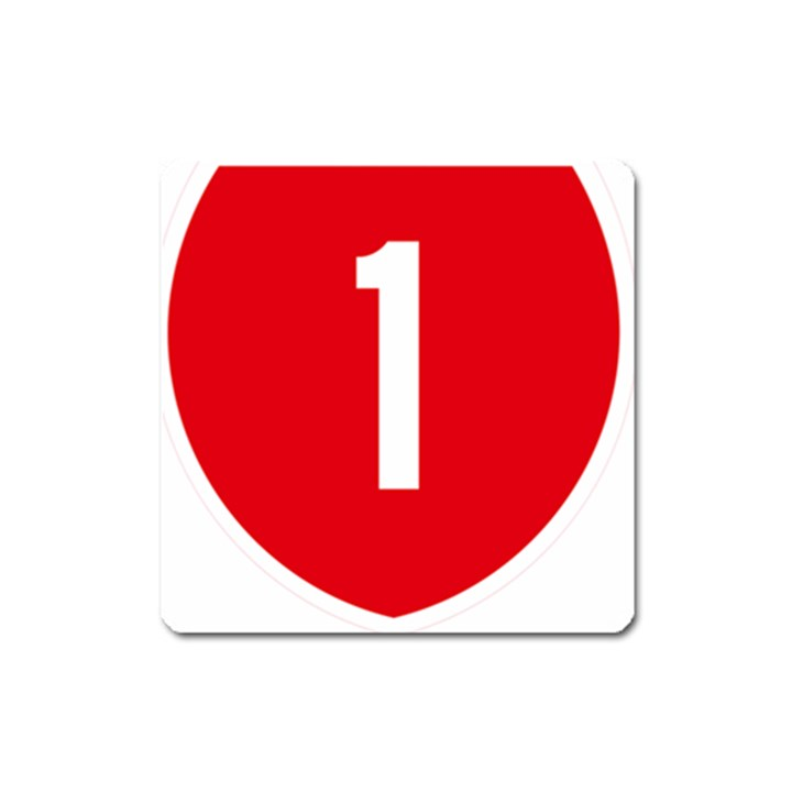 New Zealand State Highway 1 Square Magnet