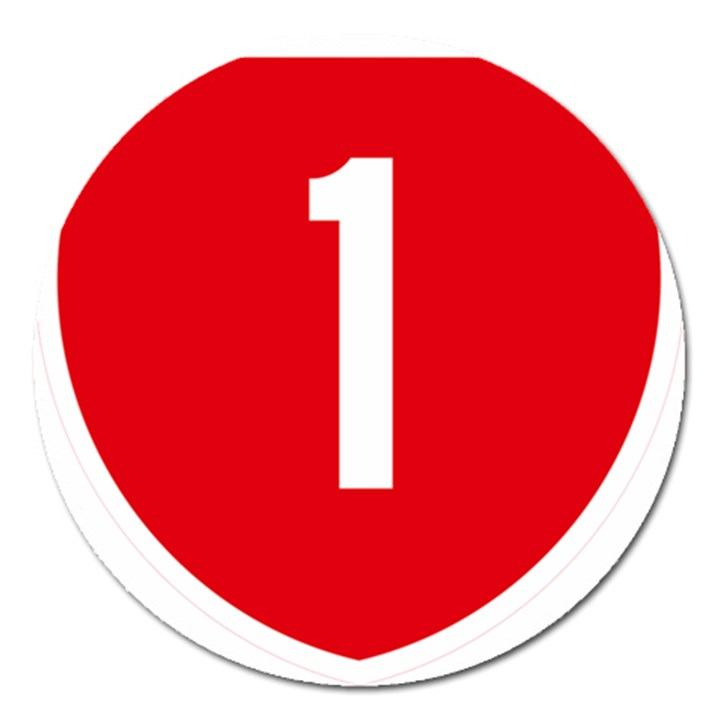 New Zealand State Highway 1 Magnet 5  (Round)