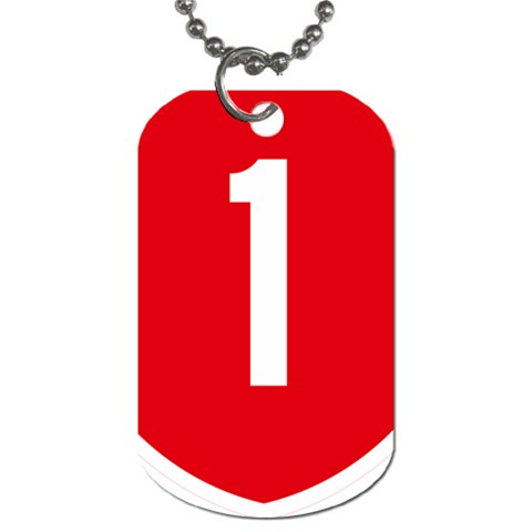 New Zealand State Highway 1 Dog Tag (One Side)