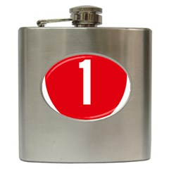 New Zealand State Highway 1 Hip Flask (6 Oz)