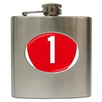 New Zealand State Highway 1 Hip Flask (6 oz) Front