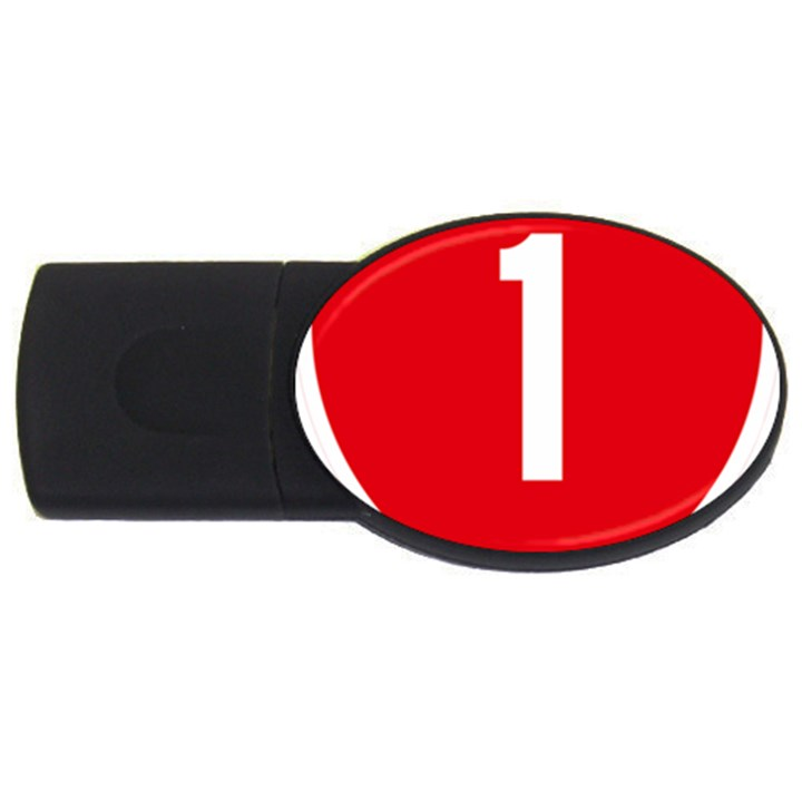 New Zealand State Highway 1 USB Flash Drive Oval (2 GB)