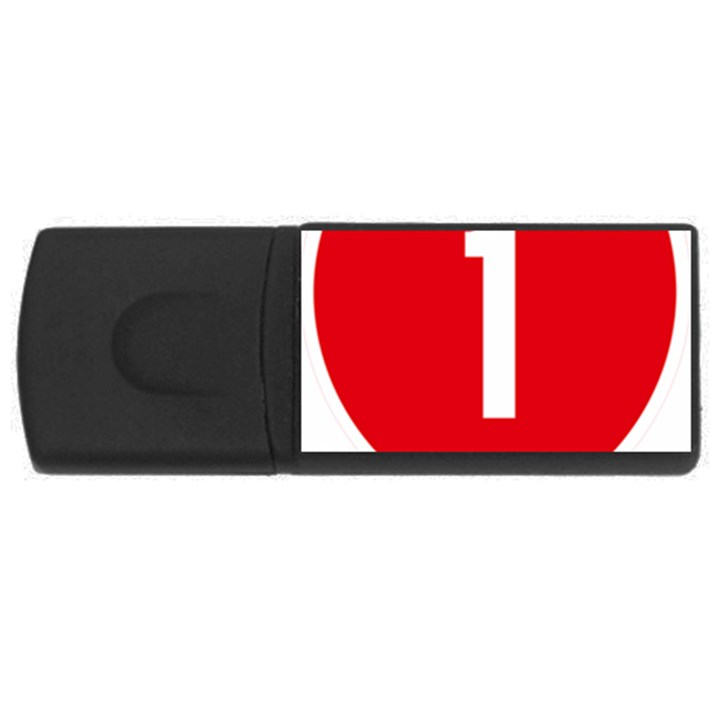 New Zealand State Highway 1 USB Flash Drive Rectangular (1 GB)
