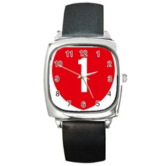 New Zealand State Highway 1 Square Metal Watch