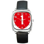 New Zealand State Highway 1 Square Metal Watch Front