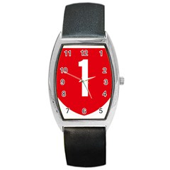 New Zealand State Highway 1 Barrel Style Metal Watch