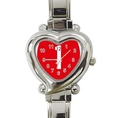 New Zealand State Highway 1 Heart Italian Charm Watch