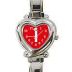 New Zealand State Highway 1 Heart Italian Charm Watch Front