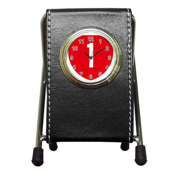 New Zealand State Highway 1 Pen Holder Desk Clocks