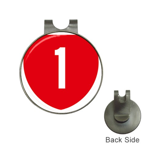New Zealand State Highway 1 Hat Clips with Golf Markers