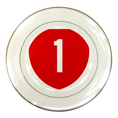 New Zealand State Highway 1 Porcelain Plates