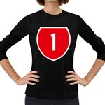 New Zealand State Highway 1 Women s Long Sleeve Dark T-Shirts Front