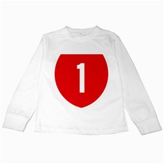 New Zealand State Highway 1 Kids Long Sleeve T Shirts