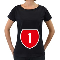 New Zealand State Highway 1 Women s Loose Fit T Shirt (black)