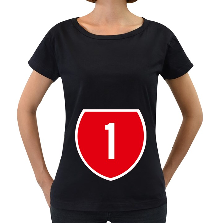 New Zealand State Highway 1 Women s Loose-Fit T-Shirt (Black)