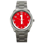 New Zealand State Highway 1 Sport Metal Watch Front
