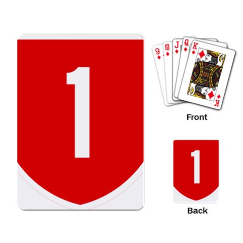 New Zealand State Highway 1 Playing Card