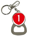 New Zealand State Highway 1 Bottle Opener Key Chains Front