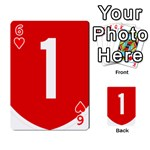 New Zealand State Highway 1 Playing Cards 54 Designs  Front - Heart6